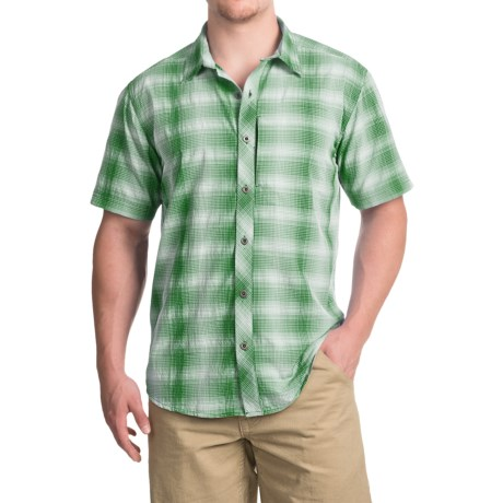 White Sierra Ningaloo Plaid Shirt - UPF 30+, Short Sleeve (For Men)