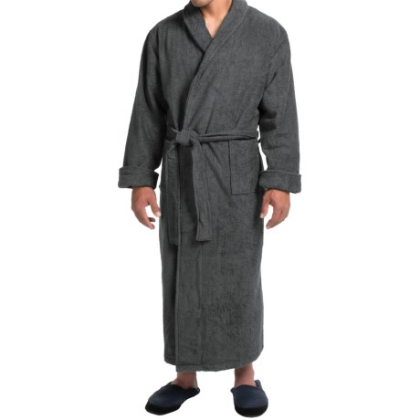 Turkish Cotton Terry Robe - Closeouts (For Men)