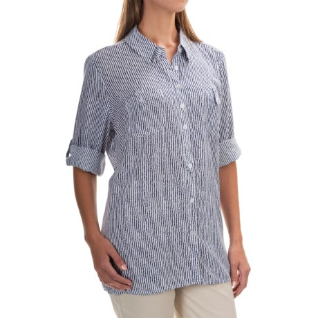FDJ French Dressing Painterly Stripe Tunic Shirt - 3/4 Sleeve (For Women)