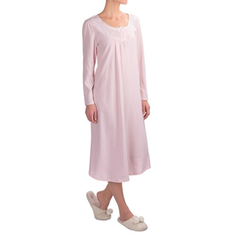 KayAnna Kayanna Brushed Jersey Nightgown - Long Sleeve (For Women)