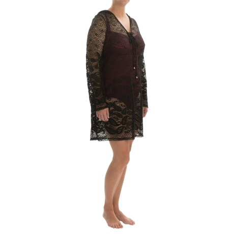 Dotti Beach Plus Rivera Paisley Swimsuit Cover-Up Tunic - Long Sleeve (For Women and Plus Size Women)