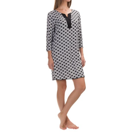 Dotti Chain Link Swimsuit Cover-Up - 3/4 Sleeve (For Women)