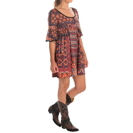Scully Patchwork Empire Waist Dress - 3/4 Sleeve (For Women)