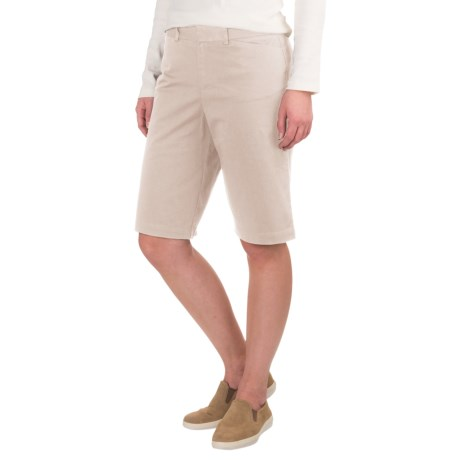 Specially made Extended Tab Twill Shorts - Flat Front (For Women)