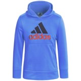 adidas Logo Hooded Sweatshirt (For Little Boys)