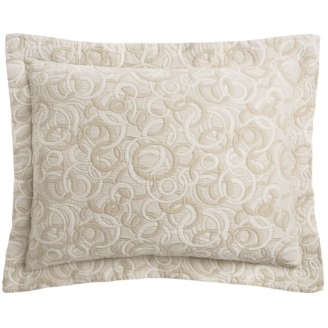 DownTown Geo Matelasse Pillow Sham - King, Egyptian Cotton