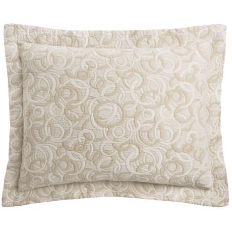 DownTown Geo Matelasse Pillow Sham - Standard, Egyptian Cotton