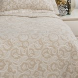 DownTown Geo Matelasse Coverlet Blanket - King, Egyptian Cotton