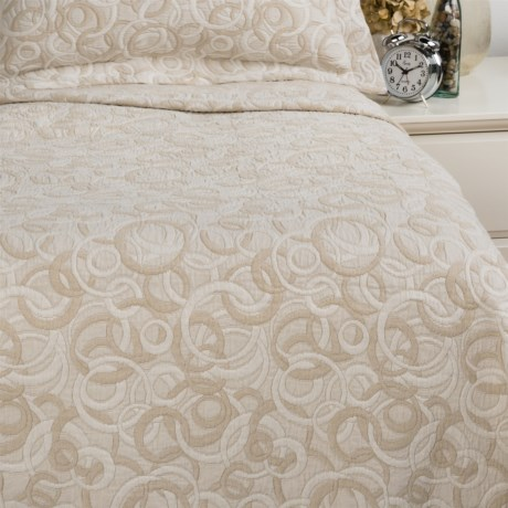 DownTown Geo Matelasse Coverlet Blanket - Queen, Cotton Percale