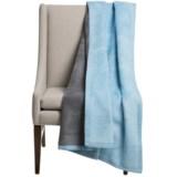 """DownTown Reversible Throw Blanket - Egyptian Cotton, 50x70"""""""