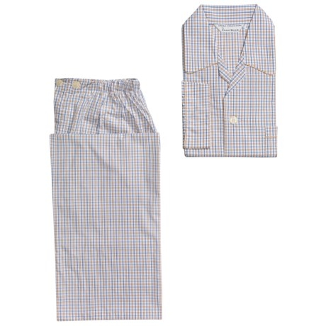 Savile Collection by Derek Rose Pajamas - Cotton, Long Sleeve (For Men)