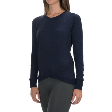 90 Degree by Reflex Cross Bottom Shirt - Long Sleeve (For Women)