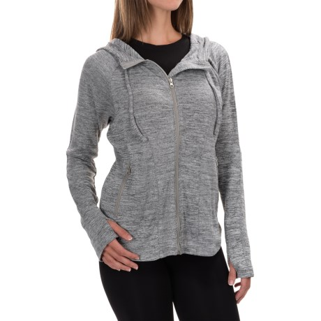 90 Degree by Reflex Cowl Neck Hooded Jacket - Long Sleeve (For Women)