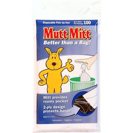 Mutt Mitt Disposable Waste Bag - 100-Count