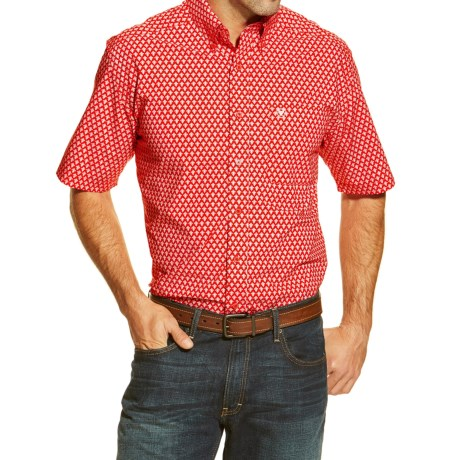 Ariat Jameson Print Western Shirt - Button Front, Short Sleeve (For Men)