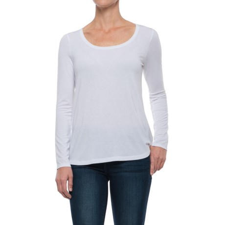 Paraphrase Scoop Neck Jersey Shirt - Modal, Long Sleeve (For Women)