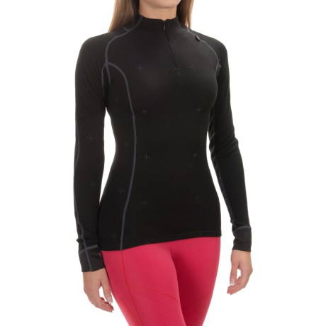 Helly Hansen Warm Crystal Base Layer Top - Merino Wool, Zip Neck, Long Sleeve (For Women)