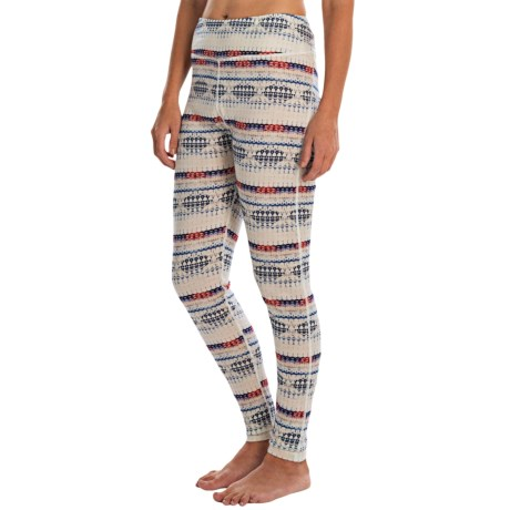 Helly Hansen Merino Wool Graphic Base Layer Bottoms (For Women)