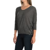 Striped High-Low Shirt - Dolman Elbow Sleeve (For Women)