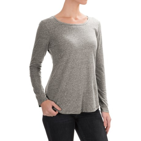 Artisan NY Heathered Jersey-Knit Shirt - Long Sleeve (For Women)