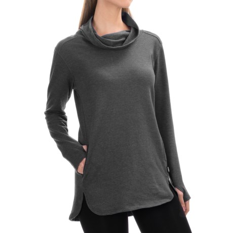 RBX Studio Relaxed Tunic Shirt - Cowl Neck, Long Sleeve (For Women)