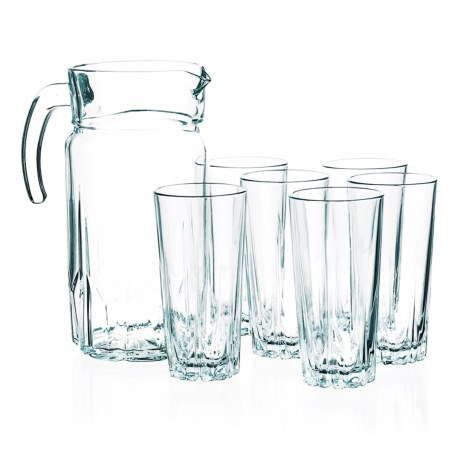 Style Setter Florence Beverage Set - 7-Piece, Pitcher and Glasses