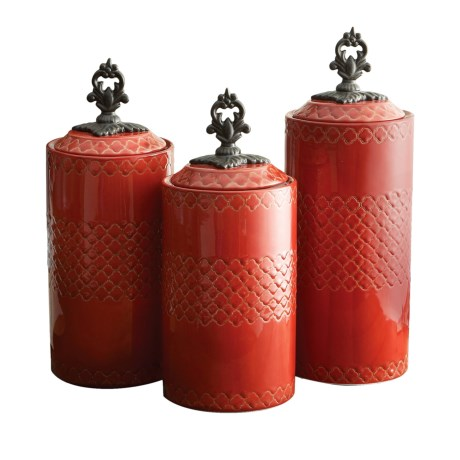 American Atelier Stoneware Canisters - Set of 3