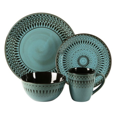 American Atelier Delilah Collection Earthenware Dinnerware - 16-Piece Set
