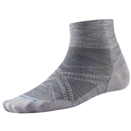 SmartWool PhD Run Ultralight Socks - Merino Wool, Quarter Crew (For Men and Women)