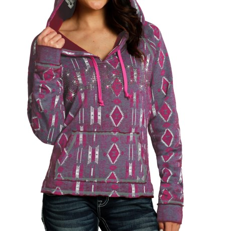 Rock & Roll Cowgirl Aztec Hoodie (For Women)