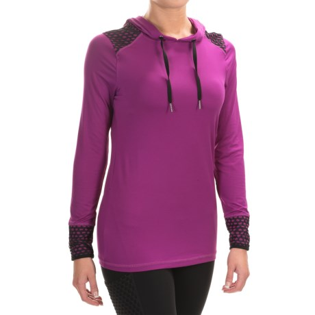 Layer 8 Hooded Stretch-Jersey Shirt - Long Sleeve (For Women)