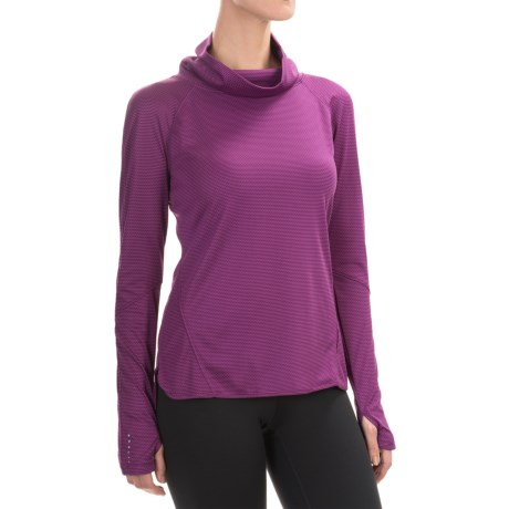 Layer 8 Ruched Cowl Neck Shirt - Long Sleeve (For Women)