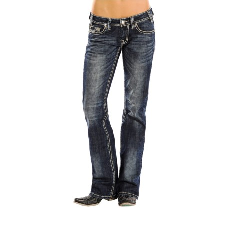 Rock & Roll Cowgirl Rope Stitch Riding Jeans - Bootcut (For Women)