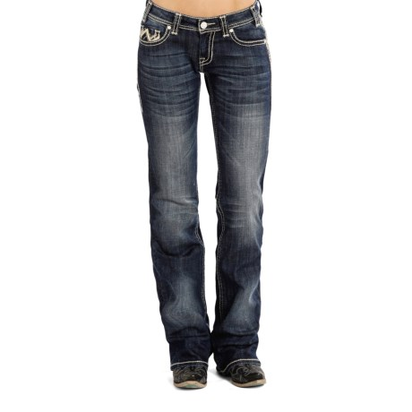 Rock & Roll Cowgirl Chevron Jeans - Riding Fit, Bootcut (For Women)
