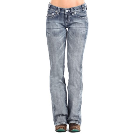 Rock & Roll Cowgirl Curved Line Jeans - Riding Fit, Bootcut (For Women)