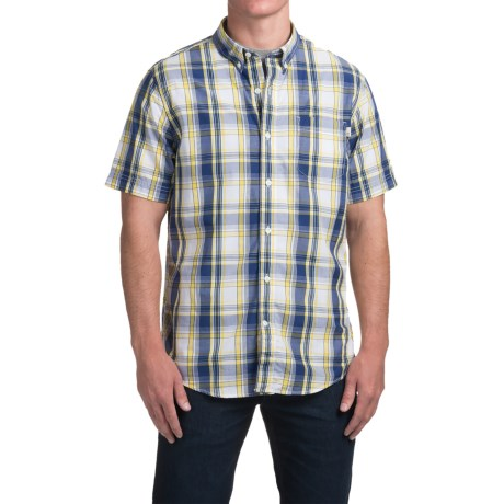 Timberland Large Check Shirt - Short Sleeve (For Men)