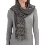 Asian Eye Artemis Hieroglyphics Wool Scarf (For Women)