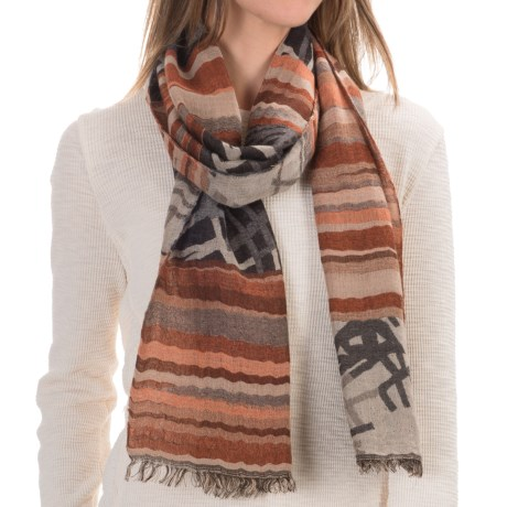 Asian Eye Element Scarf - Wool-Modal (For Women)