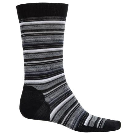 SmartWool Margarita Socks - Merino Wool, Crew (For Men) in Black/Medium Gray Heather - Closeouts