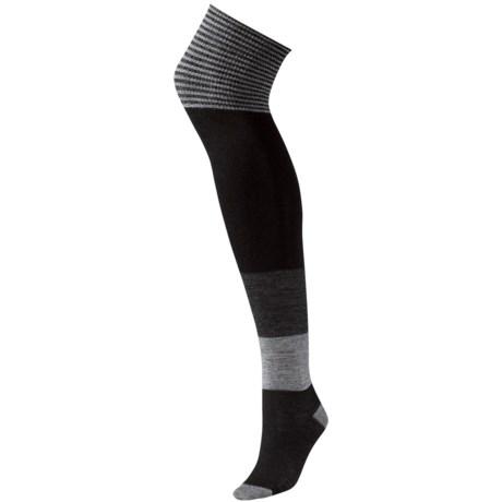 SmartWool Color-block Over-the-Knee Socks - Merino Wool (For Women)
