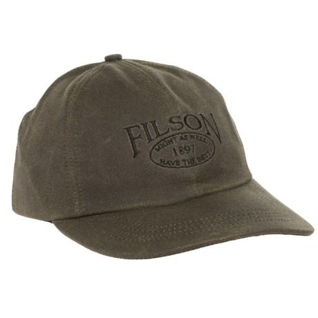Filson Tin Cloth Low-Profile Baseball Cap (For Men and Women)