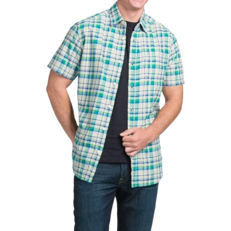JKL Single-Pocket Plaid Shirt - Short Sleeve (For Men)