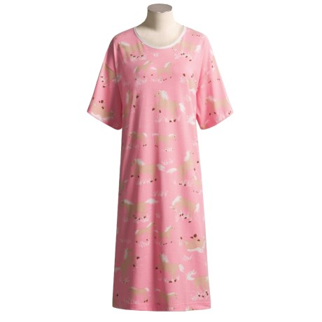 Hatley Cotton Knit Nightshirt - Short Sleeve (For Women)