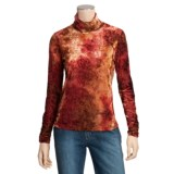 Sno Skins Burnout Velvet Turtleneck - Long Sleeve (For Women)