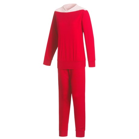 Calida Interlock Cotton Pajamas - Long Sleeve (For Women)