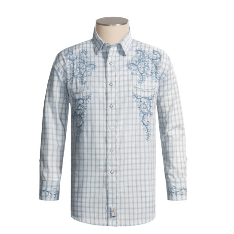 Panhandle Slim Retro Embroidered Western Shirt - Long Sleeve (For Men)