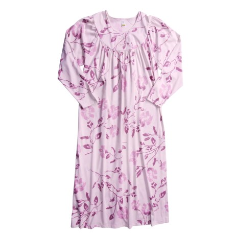 Calida Soft Cotton Long Cotton Nightgown (For Women)