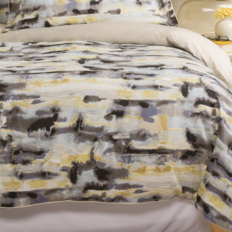 Christy Watercolour Cotton Sateen Duvet Cover - King, 300 TC