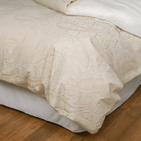 Christy of England Christy Textured Paisley Jacquard Duvet Cover - Queen