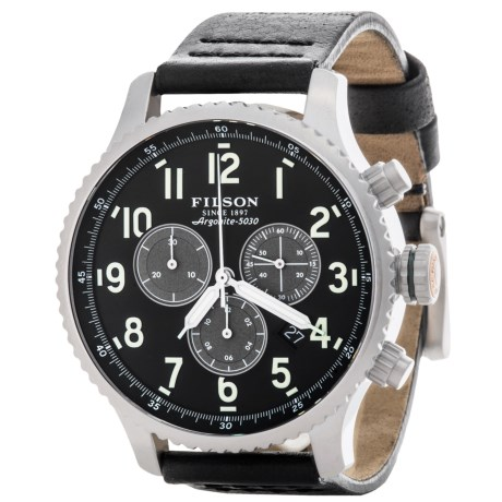 Filson Mackinaw Chronograph Field Watch - Leather Band (For Men)